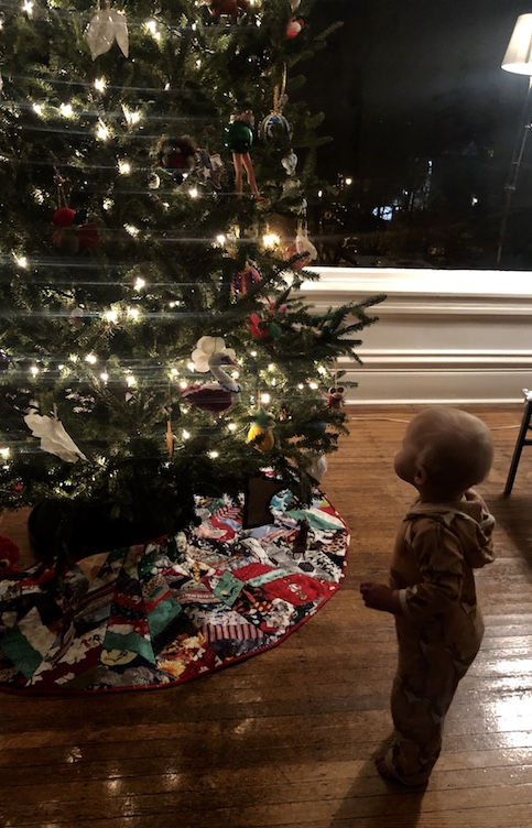 Another beautiful baby born through surrogacy celebrating the holidays!